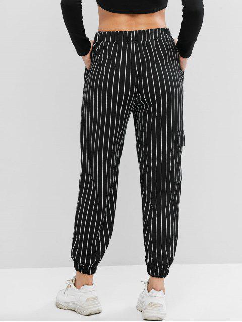 De cintura alta pantalones a cuadros del basculador - Multicolor-A XL Mobile