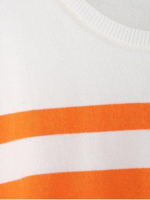 best ZAFUL Drop Shoulder Colorblock Jumper Sweater - MULTI-C S Mobile