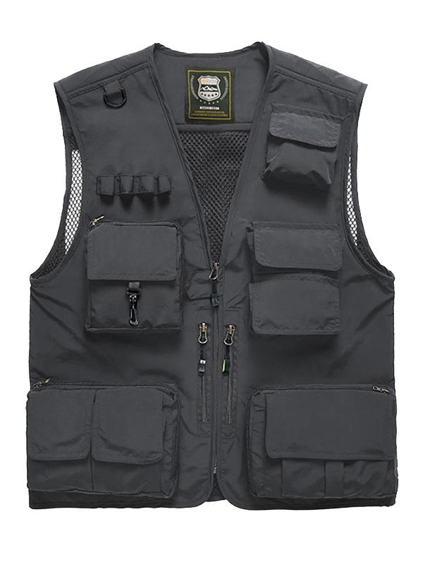 Gilet Cargo Simple avec Multi-Poches - ZAFUL - Modalova