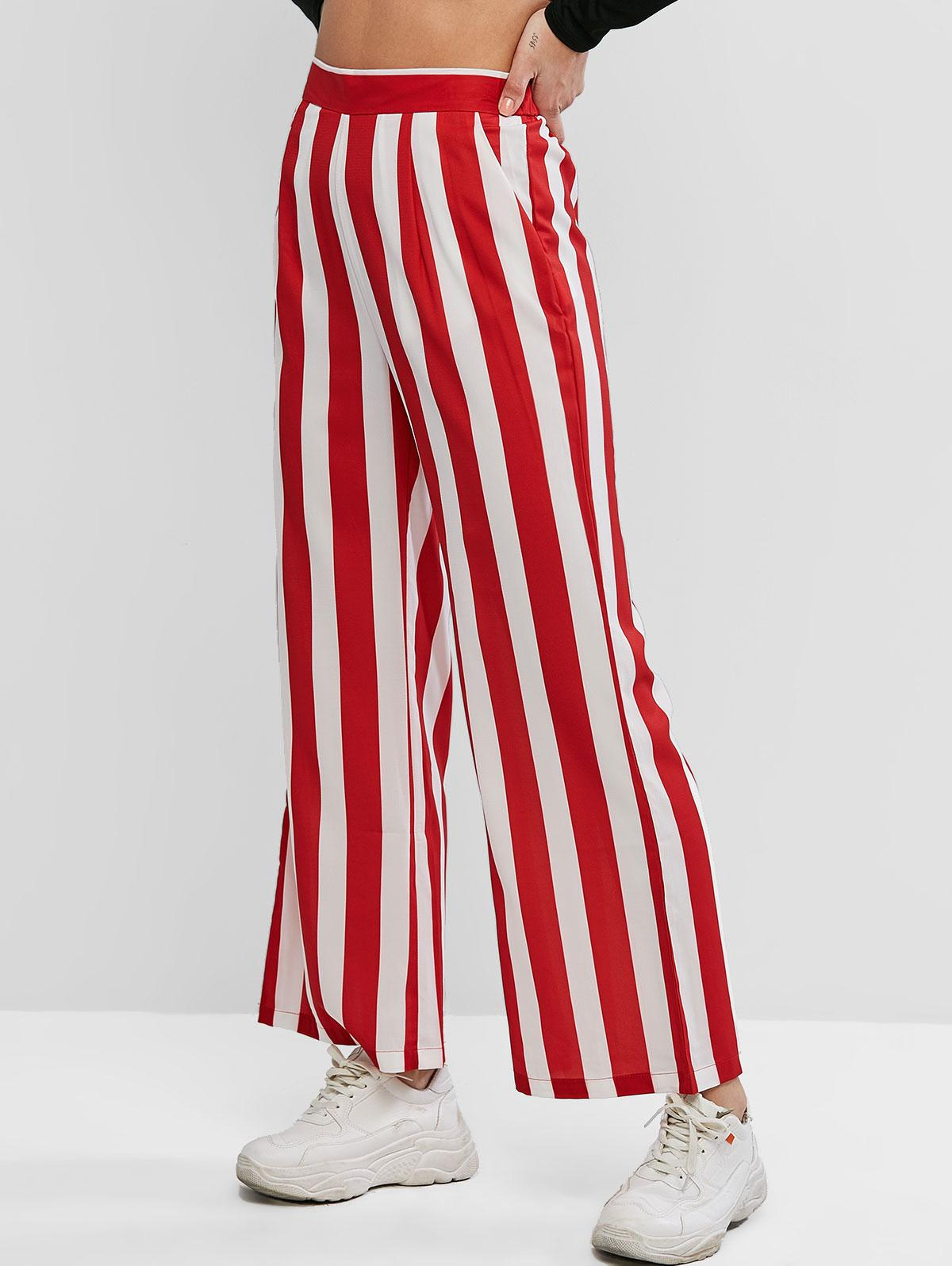 Stripe Wide Leg Pants фото
