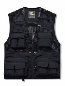 جيوب البريدي حتى موضوع مش للشحن الصدرية - أسود M