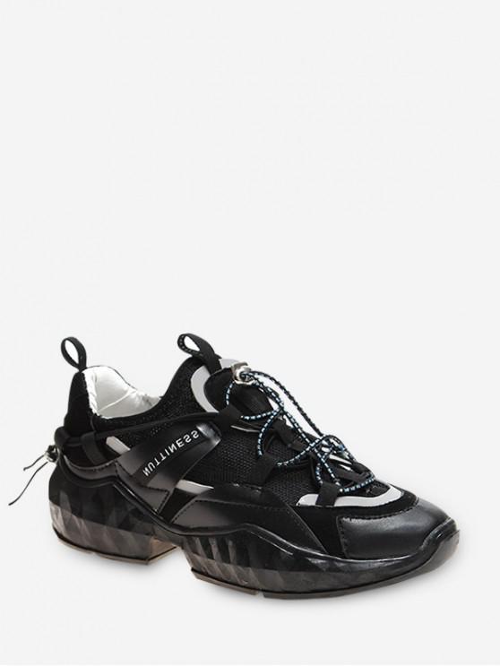 Со шнуровкой ДышащиеСпортиыные Туфли - Чёрный ЕС 40