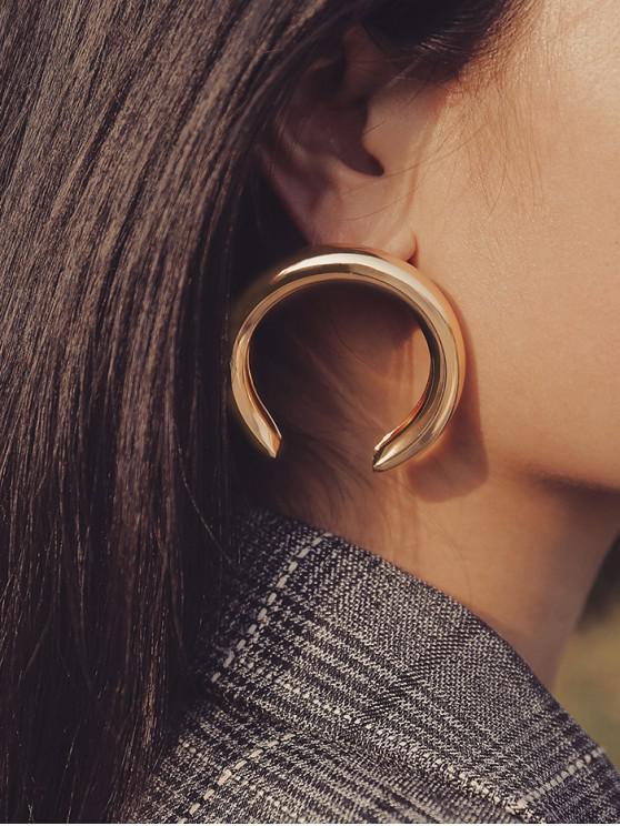 ยุ้ยพระจันทร์เสี้ยว Stud Earrings - ทอง 5.1cm