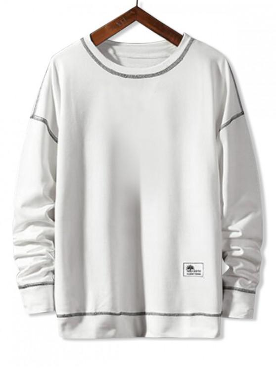 Аппликация Пуловер Основная Толстовка - Белый S