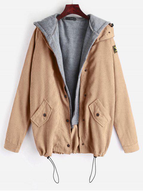 ZAFUL paño grueso y suave del chaleco y la chaqueta de pana Twinset - Caqui Claro M Mobile