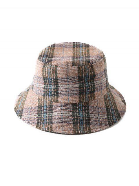 shop Grid Winter Bucket Hat - PINK  Mobile