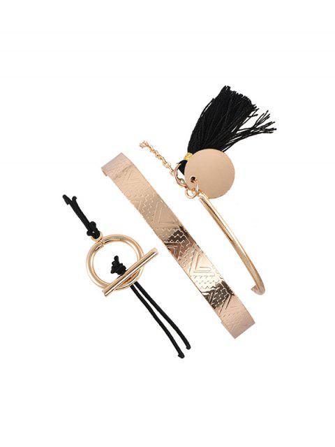 shop 3 Piece Tassel Disc Rope Chain Bracelets Set - MULTI-A  Mobile