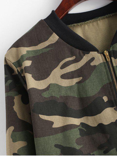 Reißverschluss Oben Camouflage Bomberjacke - ACU Tarnanstrich M Mobile