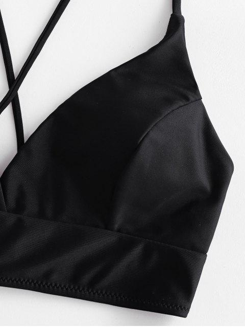 Costume da Bagno Bikini Incrociato Floreale a Vita Alta di ZAFUL - Verde Camouflage  M Mobile
