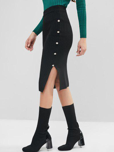 Slit Knit Pencil Skirt - from $16.49