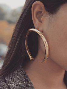 Exaggerated Crescent Moon Stud Earrings
