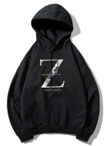 Z Letter Graphic Print Hoodie