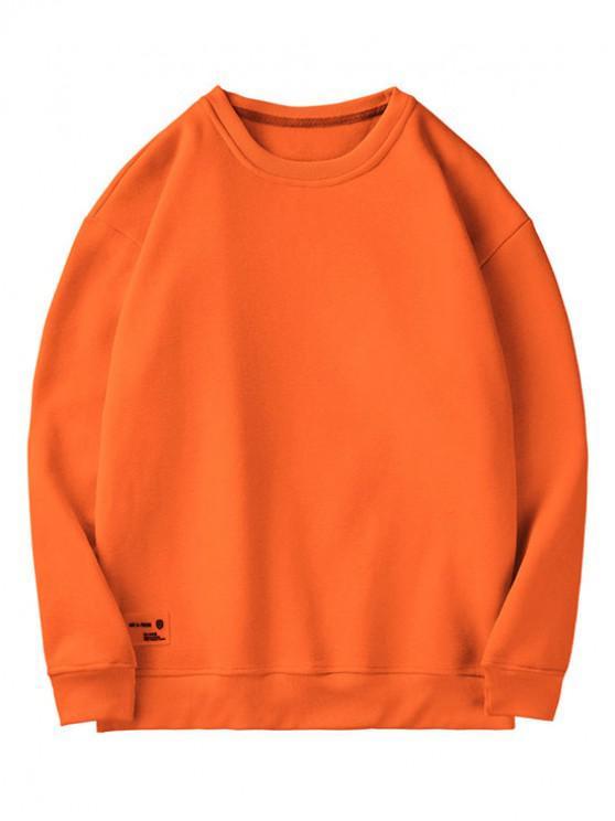Tinta unita Casual Felpa Fuzzy - Arancio L
