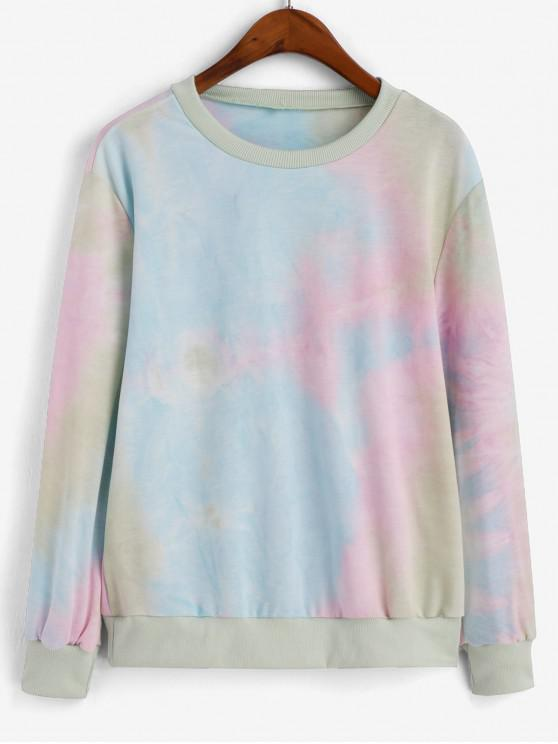 Sweat-shirt Teinté à Ourlet Côtelé - Multi-A L