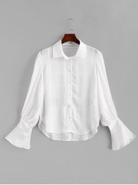 Camisa de gasa con manga linterna - Blanco 2XL Mobile