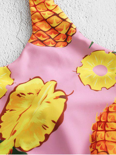 ZAFUL Haut de Maillot de Bain Rembourré Ananas Noué - Multi-B 2XL Mobile