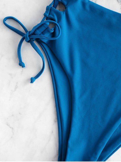 ZAFUL inmersión con cordones de Tankini del traje de baño - Azul Océano  M Mobile