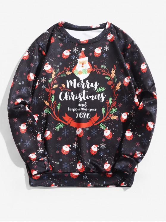 unique Santas Snowflakes Letter Graphic Christmas Sweatshirt - MULTI 4XL