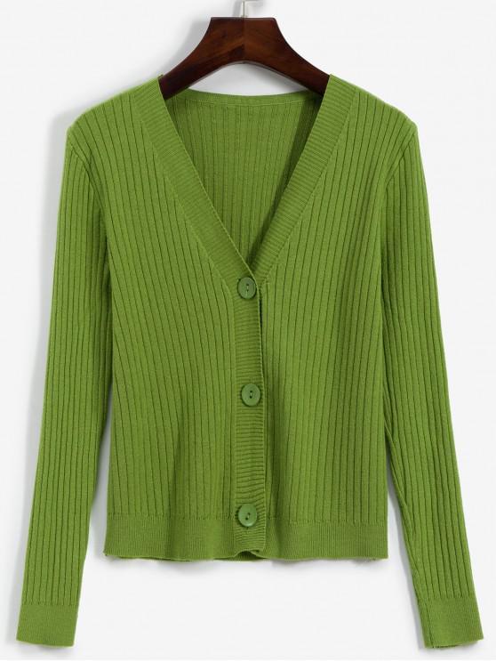 Butonul Coastele Cardigan - Pistachio verde O marime
