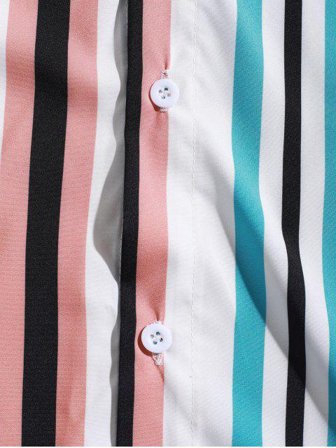 Camisa a Rayas Empalme con Manga Larga - Multicolor S Mobile