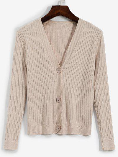 V Neck Ribbed Cardigan - from $15.38