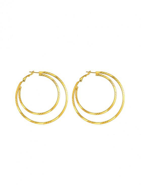 best Heart Round Star Stud Earrings - GOLD ROUND