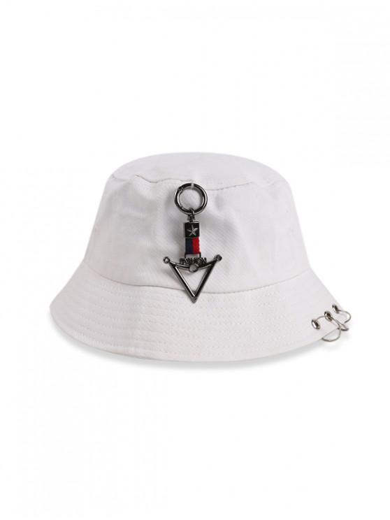 Chapeau Seau Décontracté Bague Triangle - Blanc