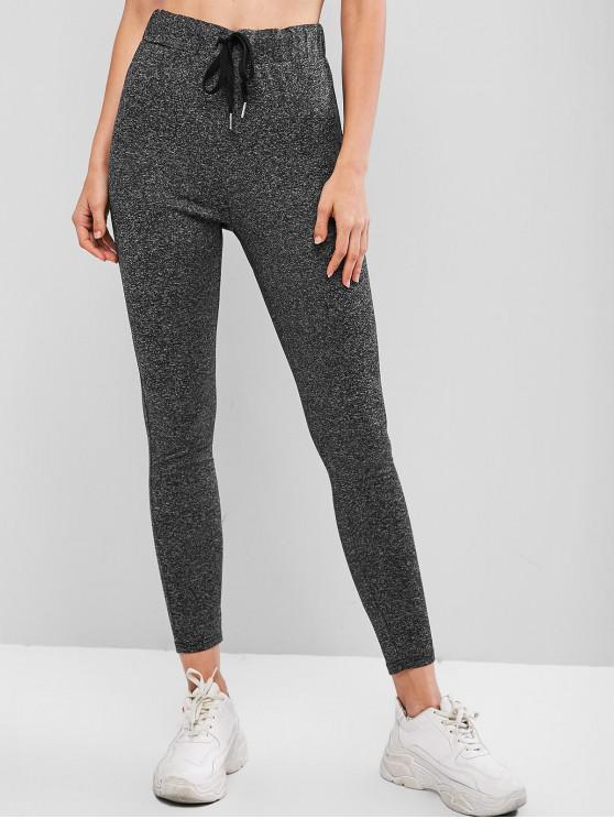 outfit ZAFUL Drawstring Heathered Leggings - MULTI-C XL