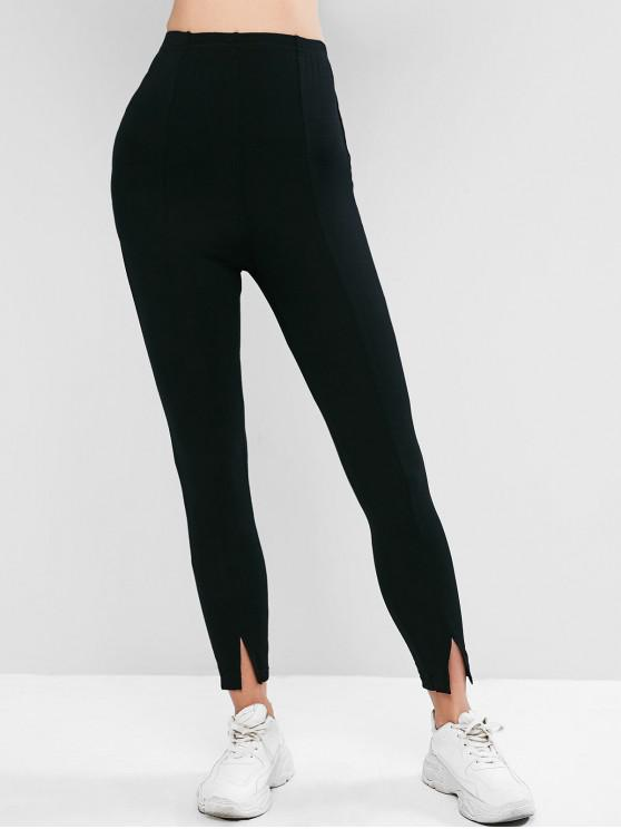 affordable ZAFUL Slit Footless Leggings - BLACK L