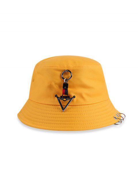 Tórica triángulo casual Bucket Sombrero - Amarillo  Mobile