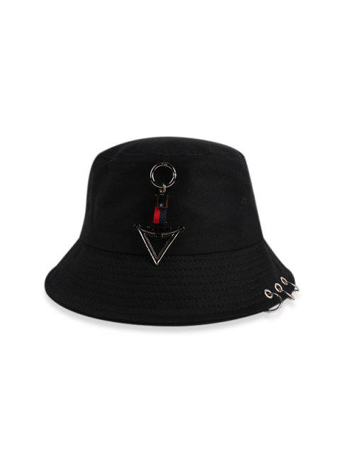 Tórica triángulo casual Bucket Sombrero - Negro  Mobile
