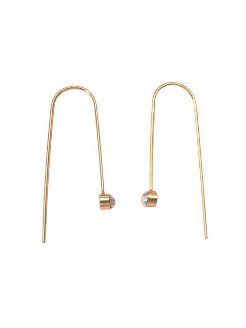 Winzige Strassohr Durch Ohrringe - Gold  Mobile
