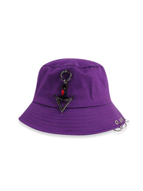 Tórica triángulo casual Bucket Sombrero - Púrpura  Mobile