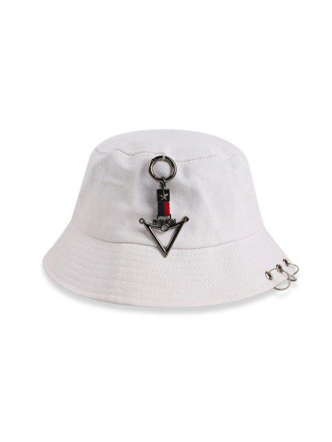 hot Triangle-ring Casual Bucket Hat - WHITE  Mobile