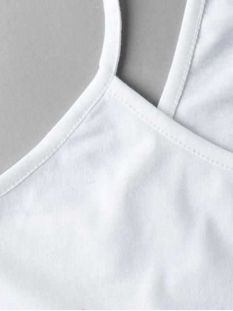ZAFUL Recortada Esqueleto Cami Top - Branco S Mobile