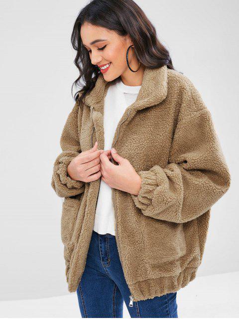 Manteau d'Hiver Zippé Fourré - Brun Ours L Mobile