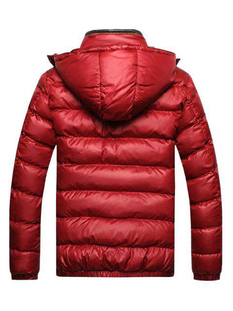Veste Rayée Zippée avec Poches - Rouge L Mobile