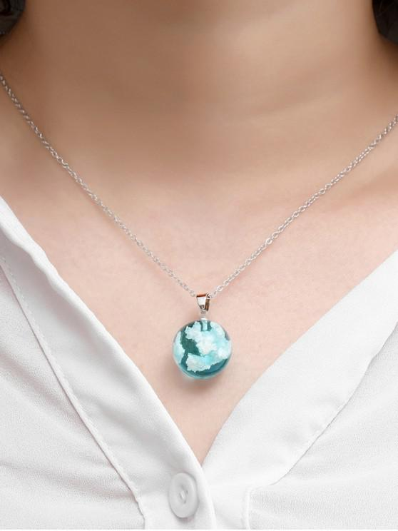 outfits Sky Clouds Round Pendant Necklace - SKY BLUE
