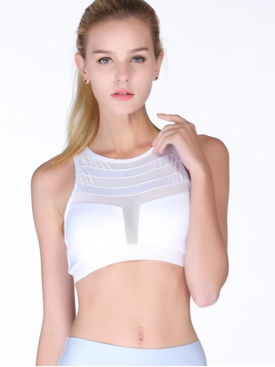 Aktive Netzeinsatz Bandage Bra - Weiß M