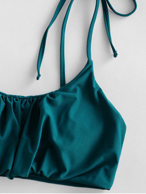 Reunidos ZAFUL lazo de hombro de alta Pierna bikini - Azul Eléctrico S Mobile