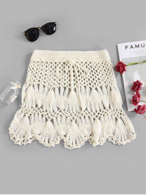 Gewellter Rand Crochet Rock - Weiß S Mobile