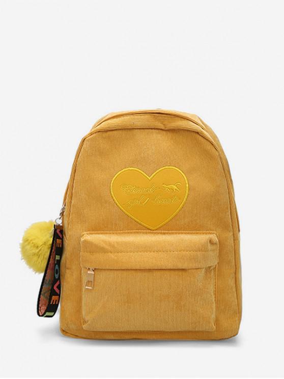 หนังสือหัวใจเลือนบอลจี้กระเป๋าเป้สะพายหลัง - goldenrod