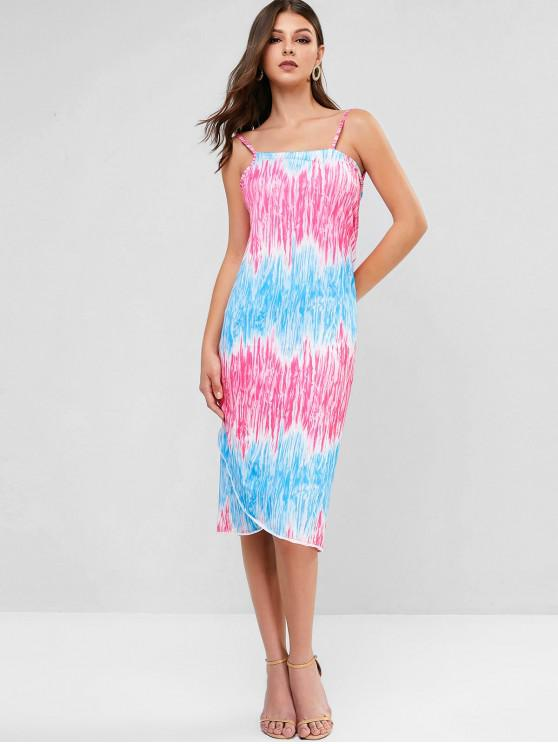 latest Tie Dye Convertible Wrap Dress - MULTI ONE SIZE