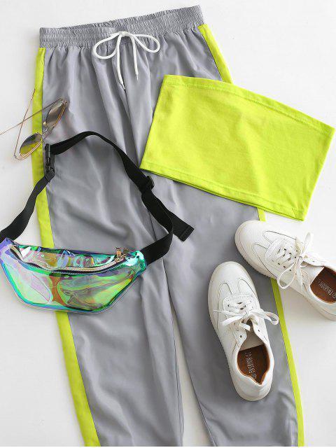 Bandeau Top y Pantalones Jogger en Contraste - Multicolor L Mobile