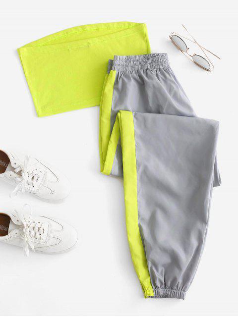 Ensemble de Haut Bandeau et de Pantalon de Jogging Contrasté - Multi XL Mobile