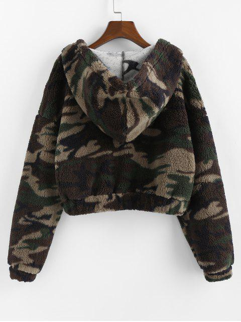 ZAFUL Camouflage Fallschulter Flauschige Hoodie - Multi M Mobile