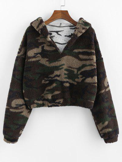 Camo Teddy Hoodie - from $17.99