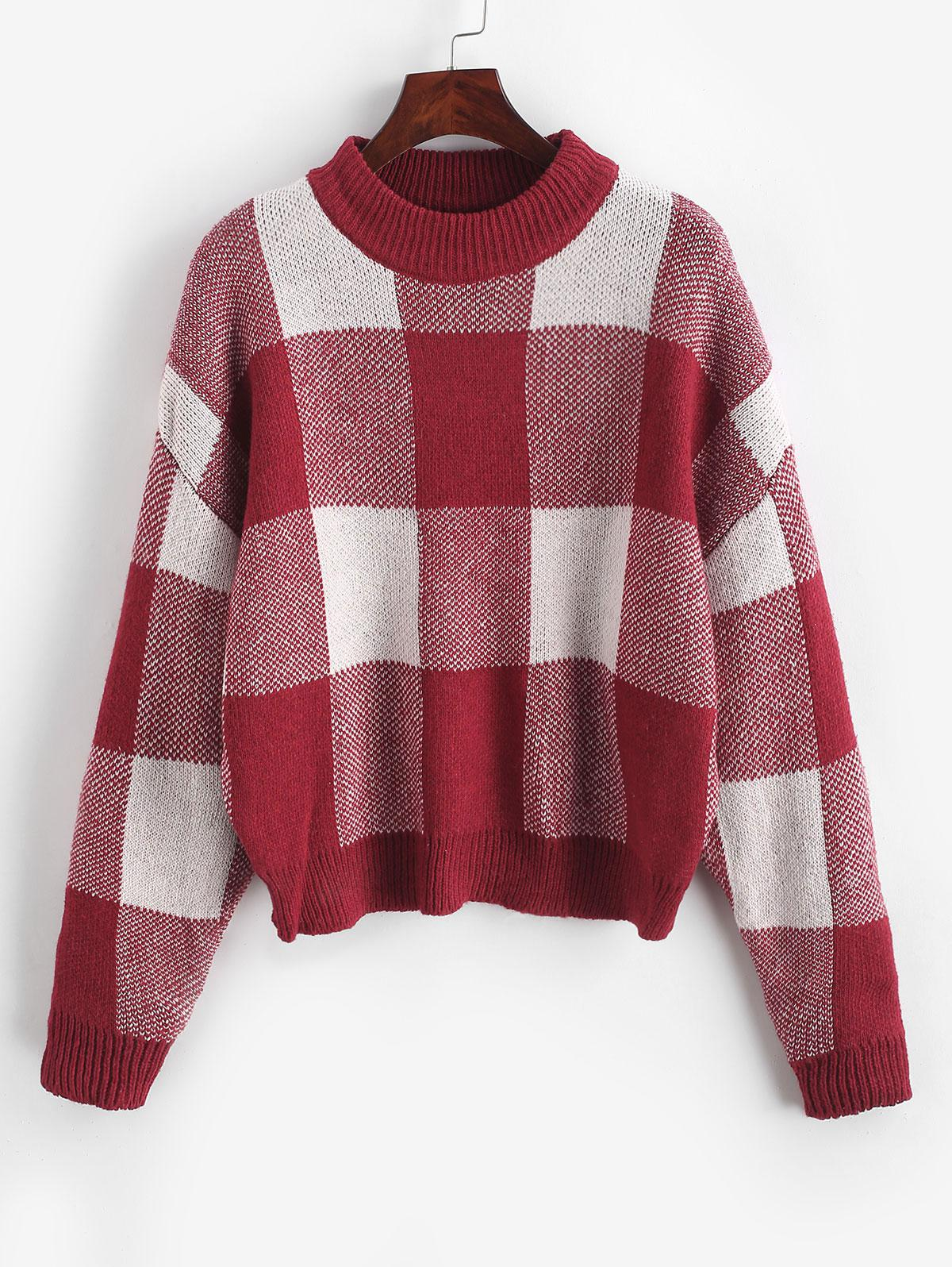 Pullover Intarsia Knit Graphic Crew Neck Sweater thumbnail