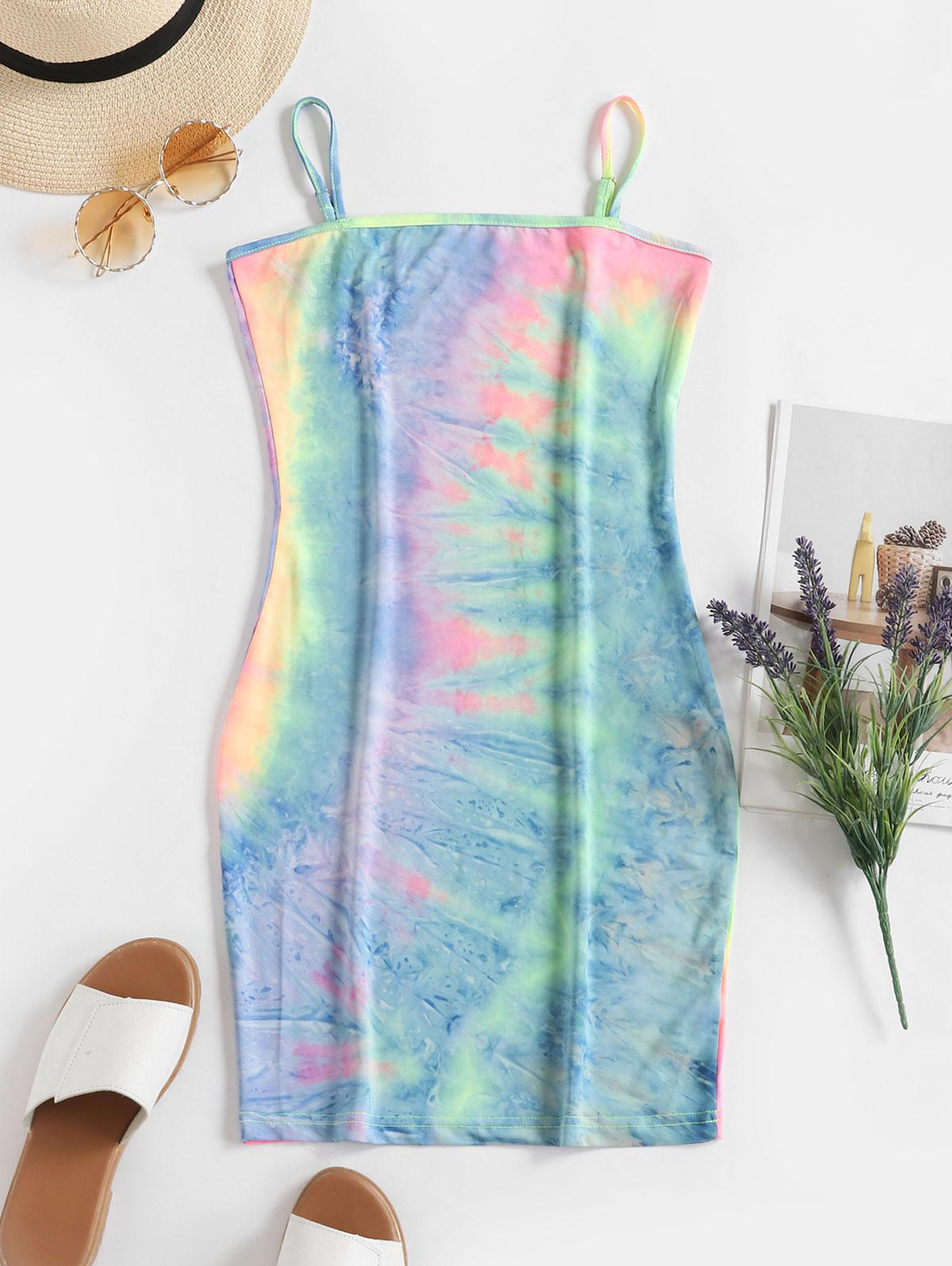 Tie Dye Bodycon Cami Dress