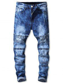 Ripped Design Zip Fly Jeans